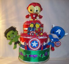 The Avengers Diaper Cake by KatherinesDiaperCake, $120.00    This is so a diaper cake that @Andrew Northern would love!!