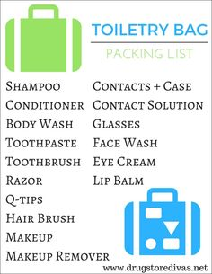 The Complete Travel Toiletries List  Pack Right Every Time