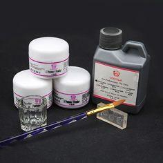 Buy Pro Acrylic Powder Liquid Kits Nail Art Tip Kit Dust Mold Brush Deco Set at Wish - Shopping Made Fun Acrylic Liquid, Acrylic Nail Art, Acrylic Nail Powder, Powder Nails, Nail Art Kit, Nail Art Hacks, Pedicure Nails, Manicure, Nail Brushes