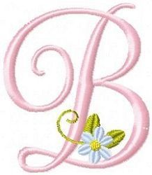 Roses And Daisies Alphabet | FREE | Machine Embroidery Designs | SWAKembroidery.com
