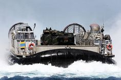 A U.S. Navy landing craft air cushion (LCAC) from Camp Pendleton, Calif., embarks aboard the San Antonio-class amphibious transport dock ship Pre-Commissioning Unit (PCU) Anchorage (LPD 23). #OperateForward
