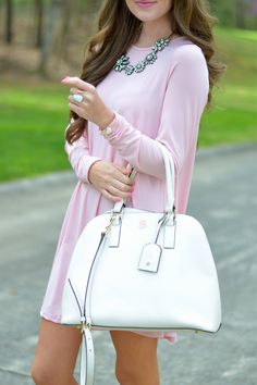 Channeling spring with this outfit.