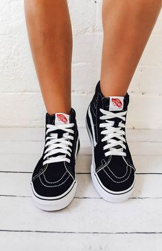 d5d944aab Vans SK8-Hi Sneaker - Black White from peppermayo.com Sk8 Hi