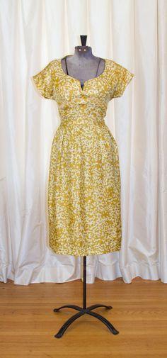 1960's Dress // Mollie Parnis Designer Gold Silk by GarbOhVintage
