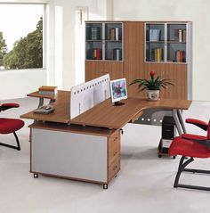 Charmant How To Arrange Cool Office Furniture: Beautiful And Cool Office Furniture  Ikea Design Ideas With Face To Face Desk Concept Also Red Designer Office  Chairs ...