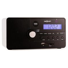 #Alarm clock sd usb bedroom radio fm #tuner sleep #timer compact - white wood,  View more on the LINK: 	http://www.zeppy.io/product/gb/2/272000677039/