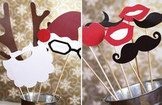 These printable Holiday Photo Booth Accessories from Paper and Cake are such a FUN idea for holiday parties - or a great way to add humor to that Tacky Christmas Party, Christmas Photo Booth, Tacky Christmas Sweater, Xmas Party, Winter Christmas, Holiday Parties, Christmas Decor, Tacky Sweater, Party Party