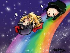 Down the Rainbow Bridge by ~mzelda. Vikings love rainbows. This is a legitimate fact.