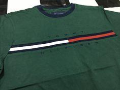Tommy Hilfiger shirt embroidered flag logo color block Size S by AlivevintageShop on Etsy
