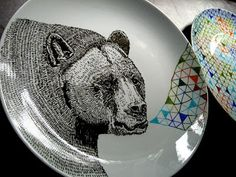 A plate a day: Porcelain pens