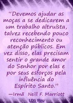 """Moças """"Eleitas"""" Importantes para a Obra de Salvação - www.lds.org/church/news/elect-young-women-important-to-work-of-salvation?lang=por #IrmaMarriott #SUDportugues"""