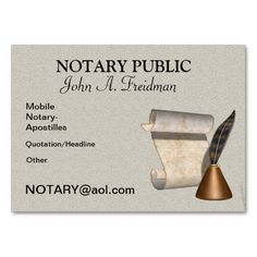 Notary Public Business Card | Business card templates, Business ...