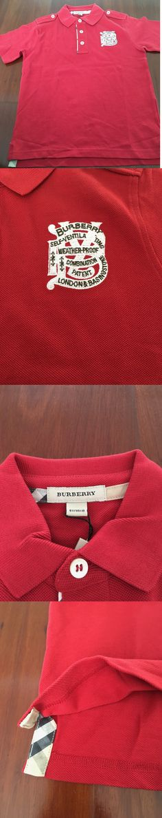 Tops Shirts and T-Shirts 175521: New Burberry Polo T-Shirt Authentic 6Y 6 Years Red Nwt -> BUY IT NOW ONLY: $34 on eBay!