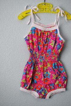 "Anybody remember these? We called them ""sun suits"" or ""rompers"" and we wore them all summer!"