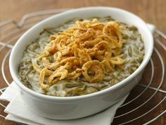 Green Bean Casserole! I started the tradition of making this last year and I will make it again this year yum :)