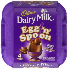 LOWEST EVER AMAZON PRICE Cadbury Egg n Spoon Double Chocolate (Pack of 4) SAVE 62% NOW £6