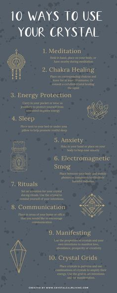 Ten ways to use your crystals for spiritual self-healing. Ten ways to use your crystals for spiritual self-healing.
