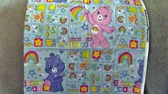 One Quarter Care Bear Fabric Friends Hearts & Rainbow / Sewing Supply / Craft Supply / Retro Care Bear Rainbow Cloud Crainston by PaperFabricRock on Etsy