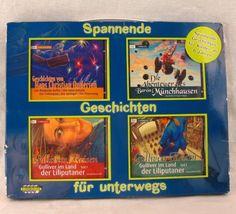 German Children's Audio Book Set 4 cd's NEW Gulliver Lilliput Baron Munchhausen