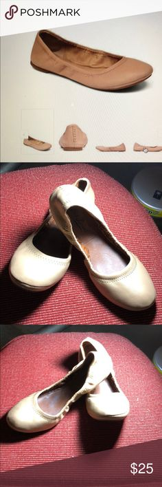 Lucky Emmie Flats Gently worn leather ballet flats Lucky Brand Shoes Flats & Loafers