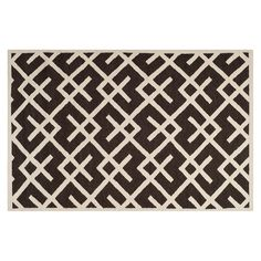 Safavieh Dhurries Broken Lattice Handwoven Flatweave Wool Rug, Brown