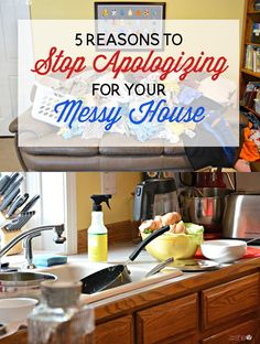 5 Reasons to Stop Apologizing for Your Messy House Daily Cleaning Checklist, Cleaning Crew, Cleaning Hacks, Diy Projects For Adults, Messy House, Inexpensive Home Decor, Homekeeping, Moving House, Organization Hacks