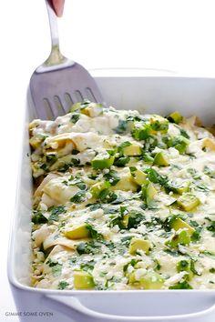 Crab and Avocado Enchiladas Recipe | gimmesomeoven.com