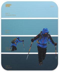 Artist Combines Paint Swatches and Retro Drawings in Sleek Designs - My Modern Met