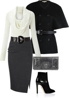 "Chic Professional Woman Outfit. ""Michael Kors"" by melindatg on Polyvore YES PLEASE"