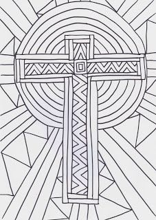 Flame: Creative Children's Ministry: Cross Reflective Colouring Sheet