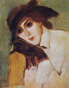 The Athenaeum - Woman with Black Gloves (József Rippl-Rónai - )