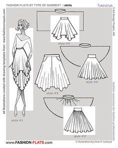 Fashion Flat - drawing circular skirts