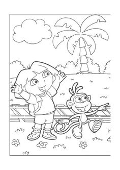 Dora The Explorer Coloring Pages Select From 28148 Printable Of Cartoons Animals Nature Bible And Many More