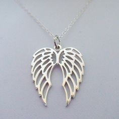 Angel Wings Necklace - Sterling Silver