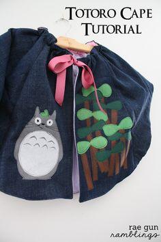 Make your own Totoro Cape - Rae Gun Ramblings #totoro #kawaii #anime #craft #tutorial