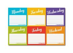 Knock Knock Days of the Week Sticky Note Packet