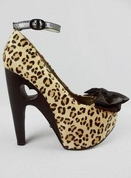 cheetah print heart heels