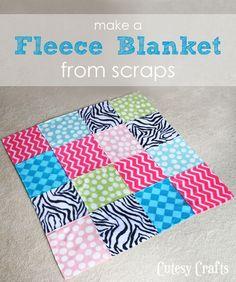 How to Make Fleece Blankets from Scraps
