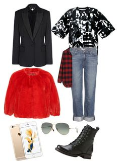 """""""Bill Kaulitz style"""" by andrea-levander on Polyvore featuring Kokon To Zai, Paige Denim, STELLA McCARTNEY, Monique Lhuillier, Madewell, Frye, Ray-Ban, women's clothing, women's fashion and women"""