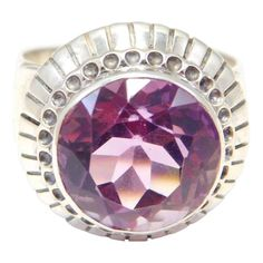 Art Deco Amethyst Ring Sterling Gorgeous Nail Guards, Art Deco Period, Victorian Jewelry, Stone Cuts, Carnelian, Fine Jewelry, Amethyst, Jewelry Design, Pitch