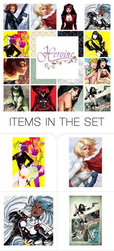 """""""Battle of the Heroines shoutout"""" by misssally ❤ liked on Polyvore featuring art"""