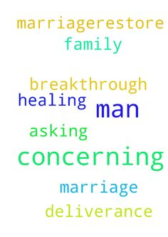 Man of God I ask prayer concerning my - Man of God I ask prayer concerning my marriage.restore my marriage. Im asking breakthrough, deliverance and healing to me and my family Posted at: https://prayerrequest.com/t/B5i #pray #prayer #request #prayerrequest