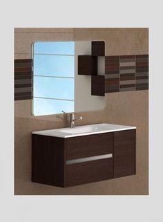 """Eviva Aries® 39"""" Wenge Modern Vanity"""