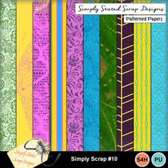 Pack of 10 Papers for the Simply Scrap kit #10. Personal & Scrap for Hire use only. Full size. 300 dpi. 12 x 12. #mymemories #mymemoriessuite #scrapbooking #digitalscrapbooking #digiscrapbooking #digitalscrapbookkits #kits #papers