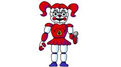 How to Draw Baby from FNaF Sister Location
