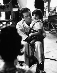 Richard Burton on the set of Cleopatra with Elizabeth Taylor's daughter.