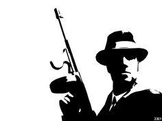 Mafia Man Stencil by Six-Hundred.deviantart.com on @deviantART