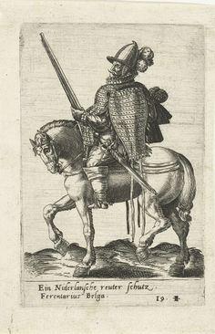 Nederlandse ruiter met geweer, attributed to Abraham de Bruyn, 1577