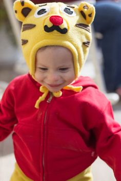 Fleece Daniel Tiger Hat Beanie Winter Gear by MexibillyStudio Daniel Tiger's Neighborhood, Dress Up Day, Winter Gear, 2nd Birthday, Beanie, Trending Outfits, Hats, Handmade Gifts, Vintage