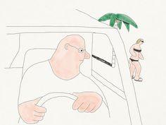 Oscar Grønner shows us a weird world of monolithic figures.